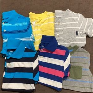 6 short sleeve striped boys top size 5
